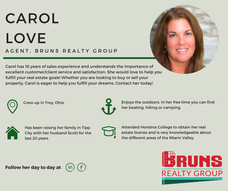 This month in our Agent Spotlight is Carol Love! Follow along with us every Monday to learn more about Carol, and what makes her a realtor you should know!